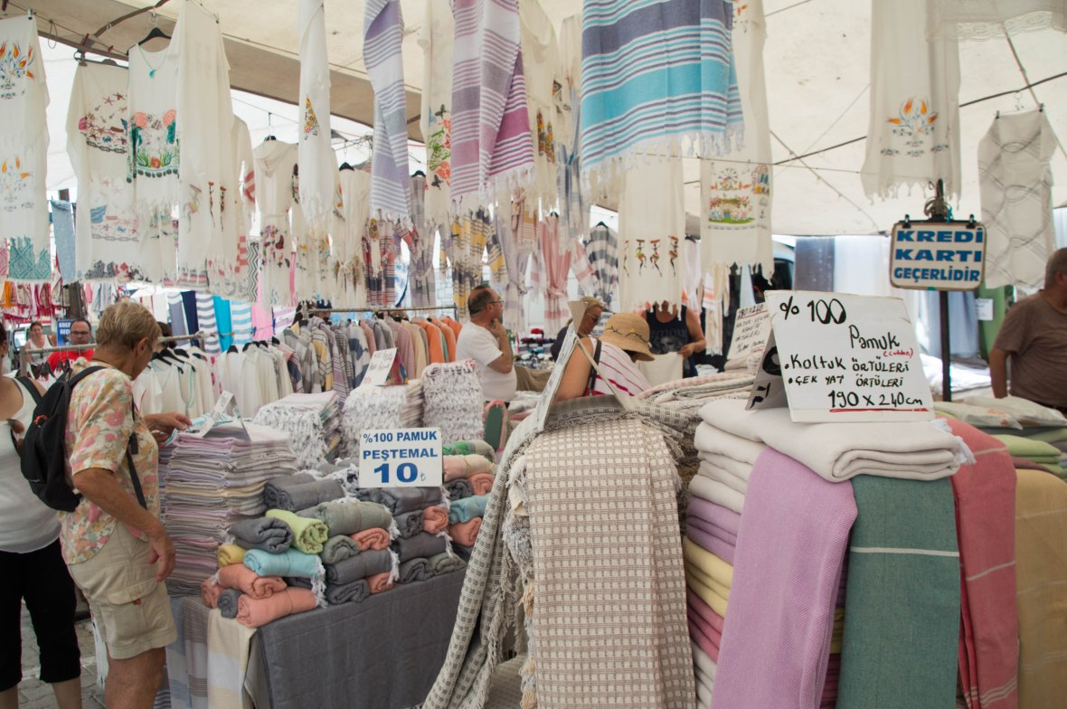 Turkish Towels And Linen, Alaçatı Market, Turkey
