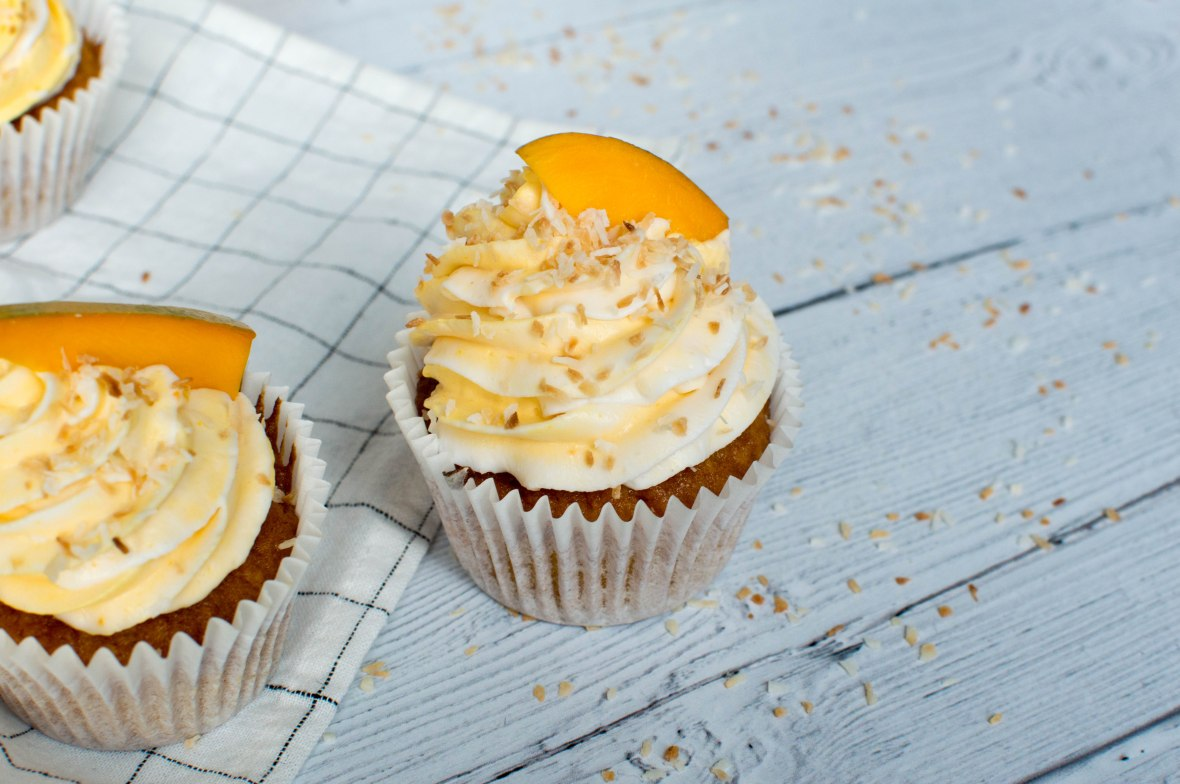 Mango And Coconut Cupcakes - Kay's Kitchen