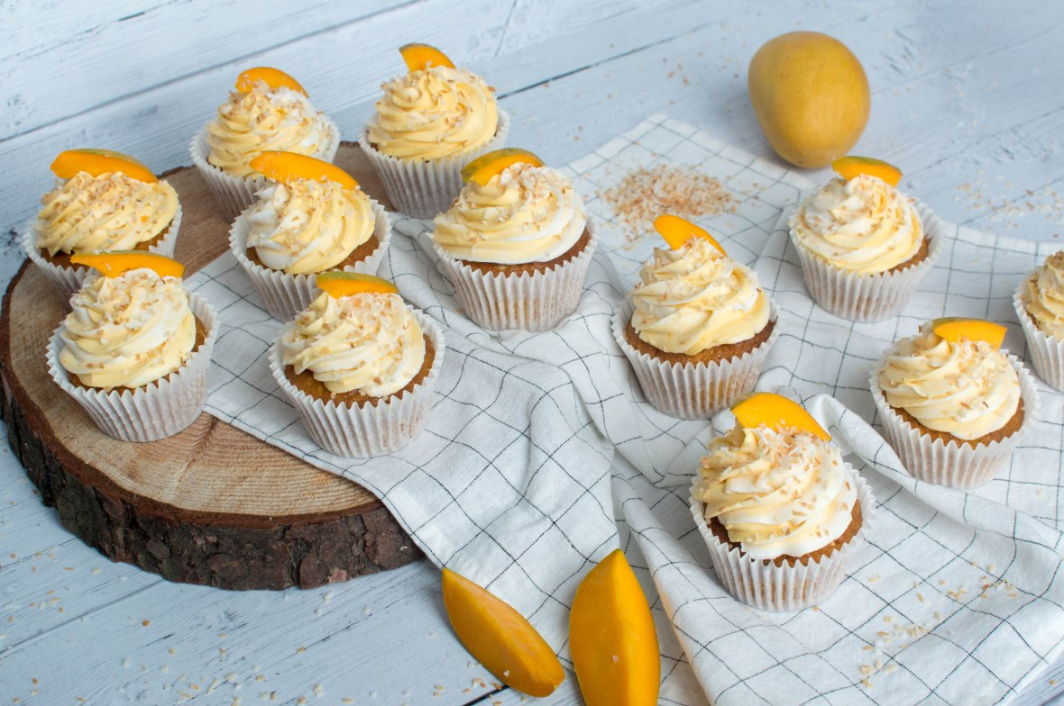 Summer Inspired Cupcakes With Alphonso Mango And Toasted Coconut - Kay's Kitchen