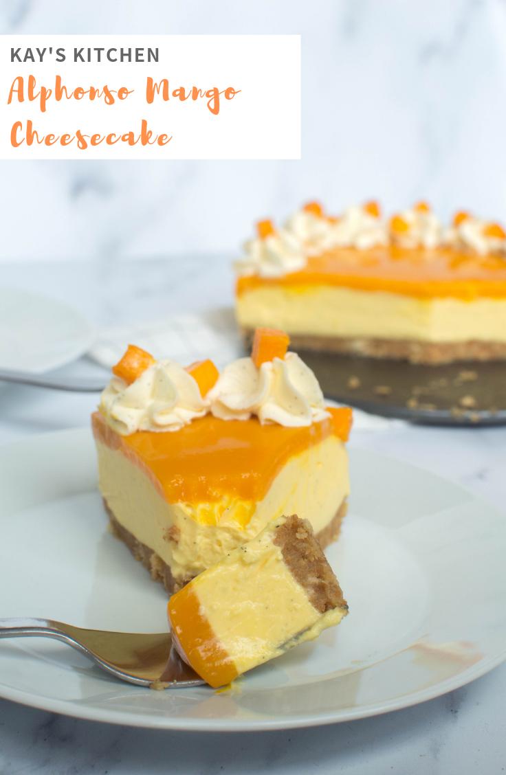 Alphonso Mango Cheesecake - Kay's Kitchen (1)