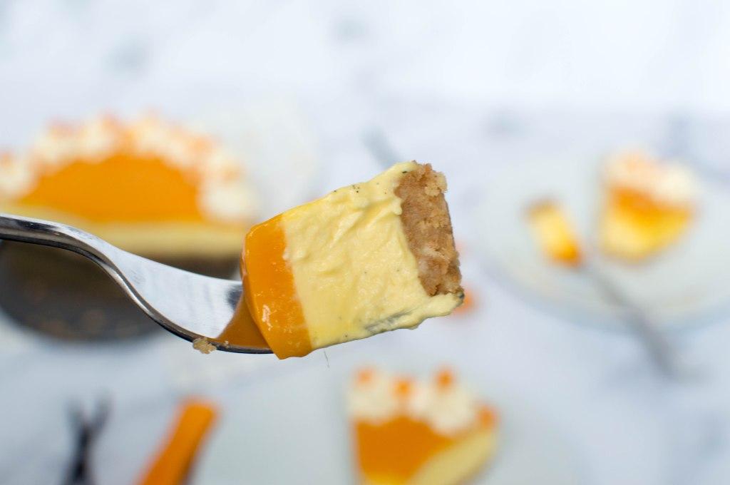 Mango And Vanilla Bean Cheesecake - Kay's Kitchen