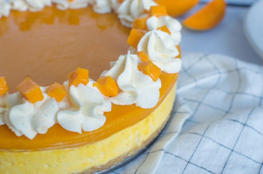 No Bake Alphonso Mango Cheesecake - Kay's Kitchen