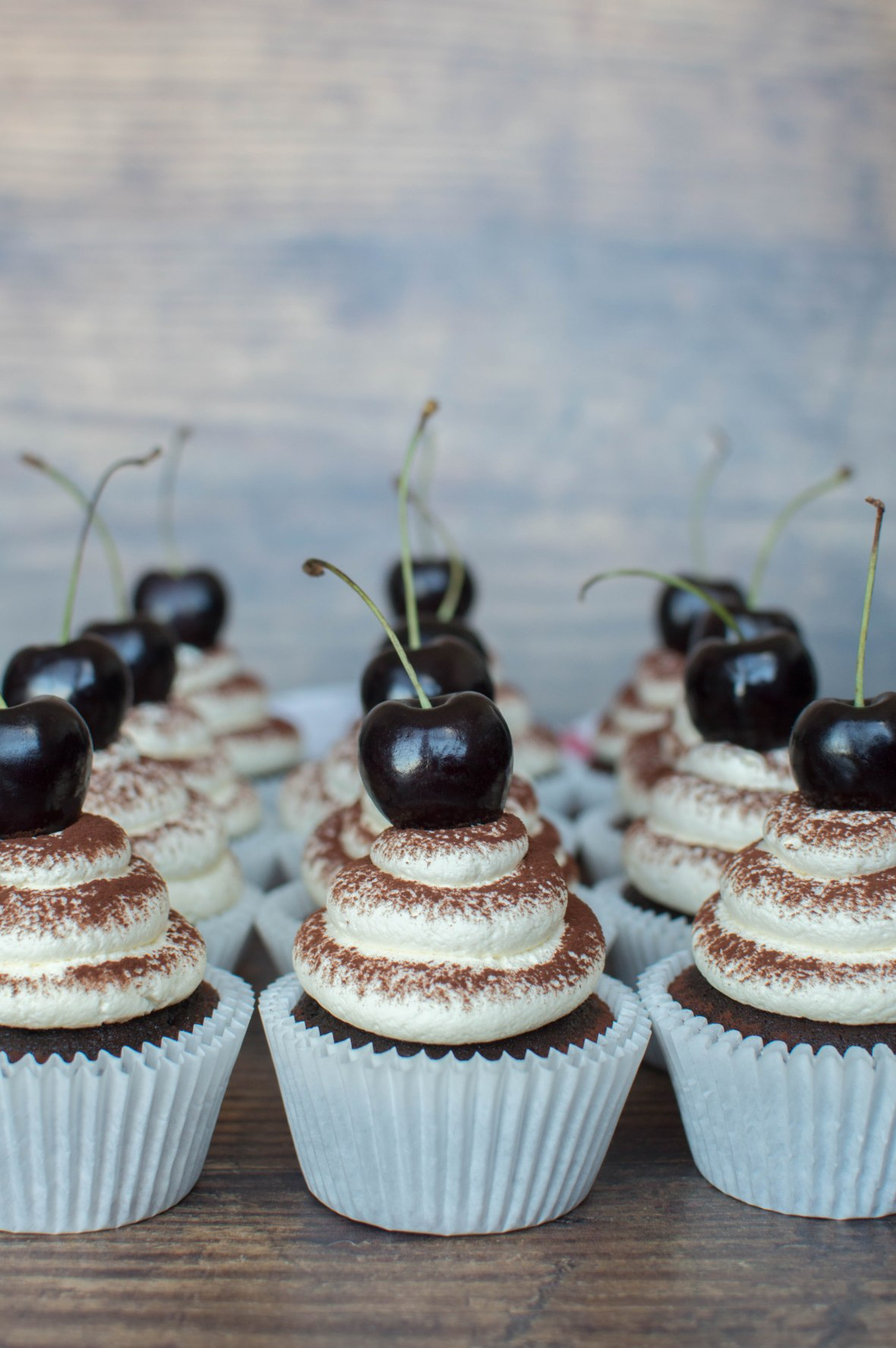 Chocolate Cherry Cupcakes - Kay's Kitchen