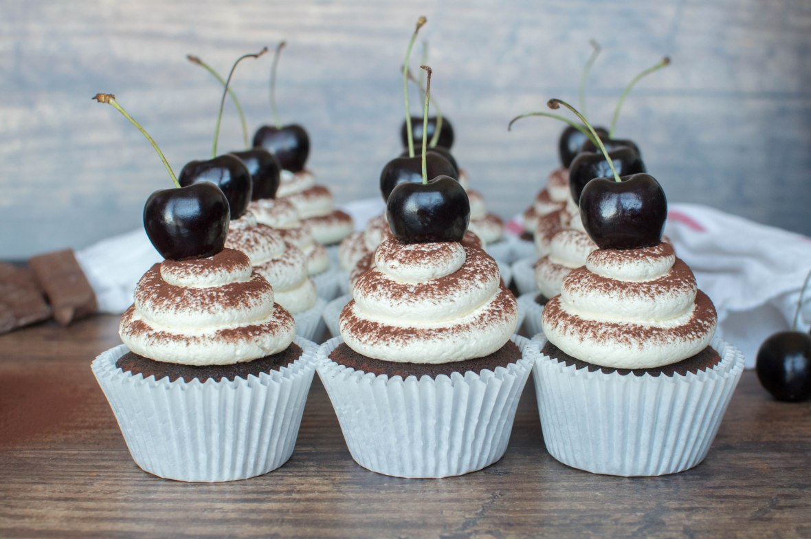 Chocolate Cherry Cupcakes Recipe - Kay's Kitchen