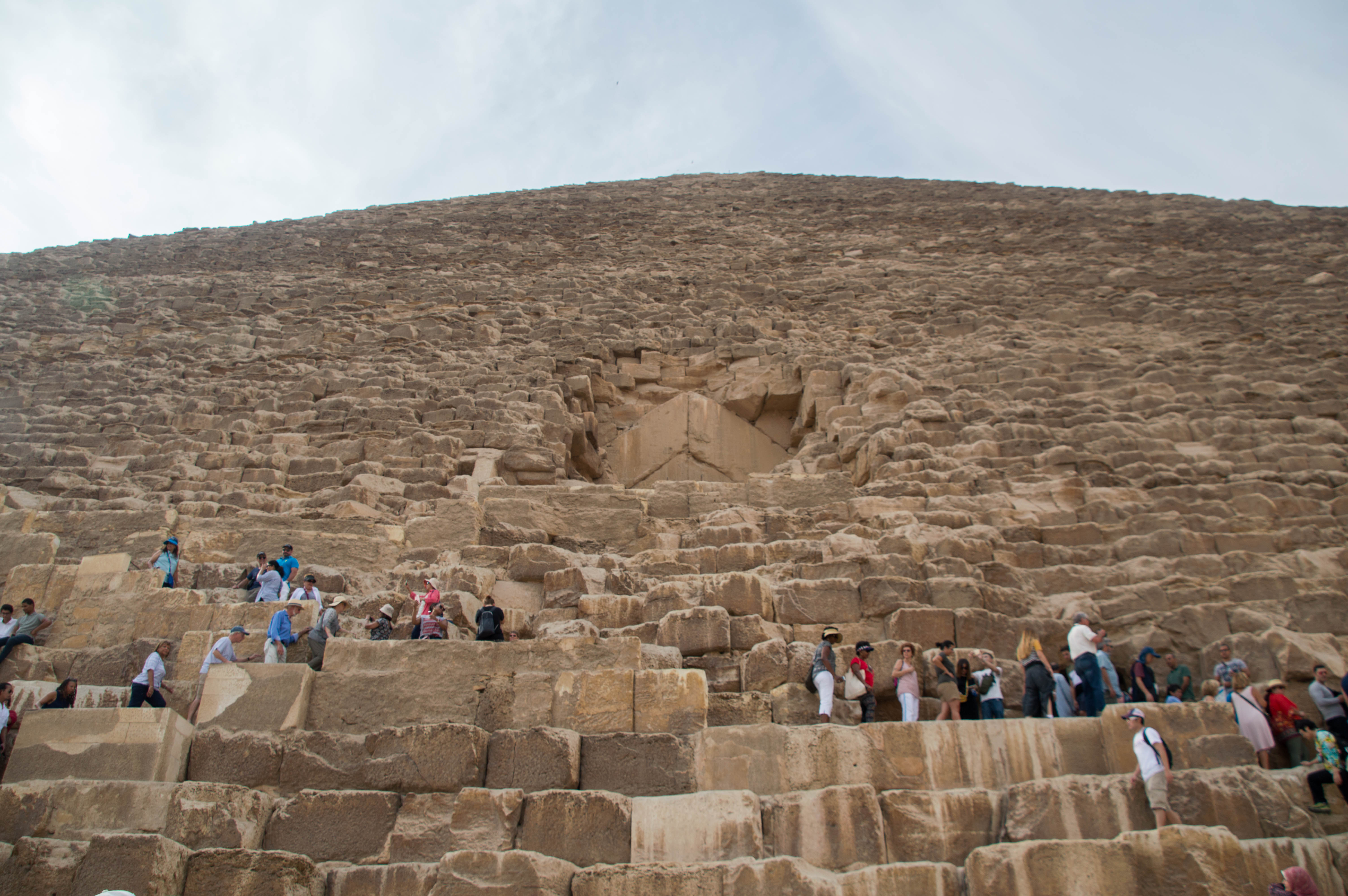 Looking Up At The Great Pyramid of Giza, Egypt