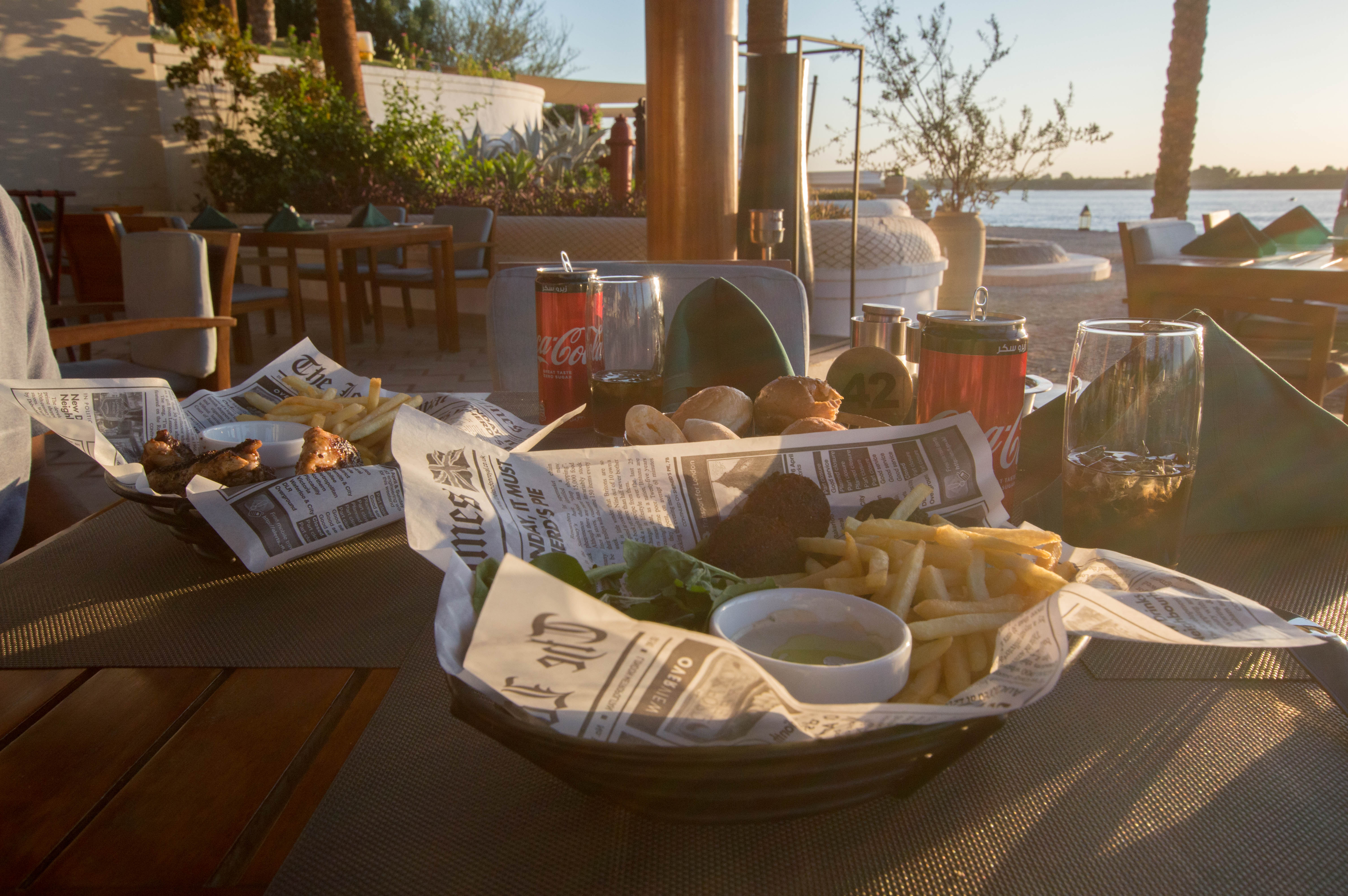 Falafel And Wings, Hilton Hotel, Luxor, Egypt
