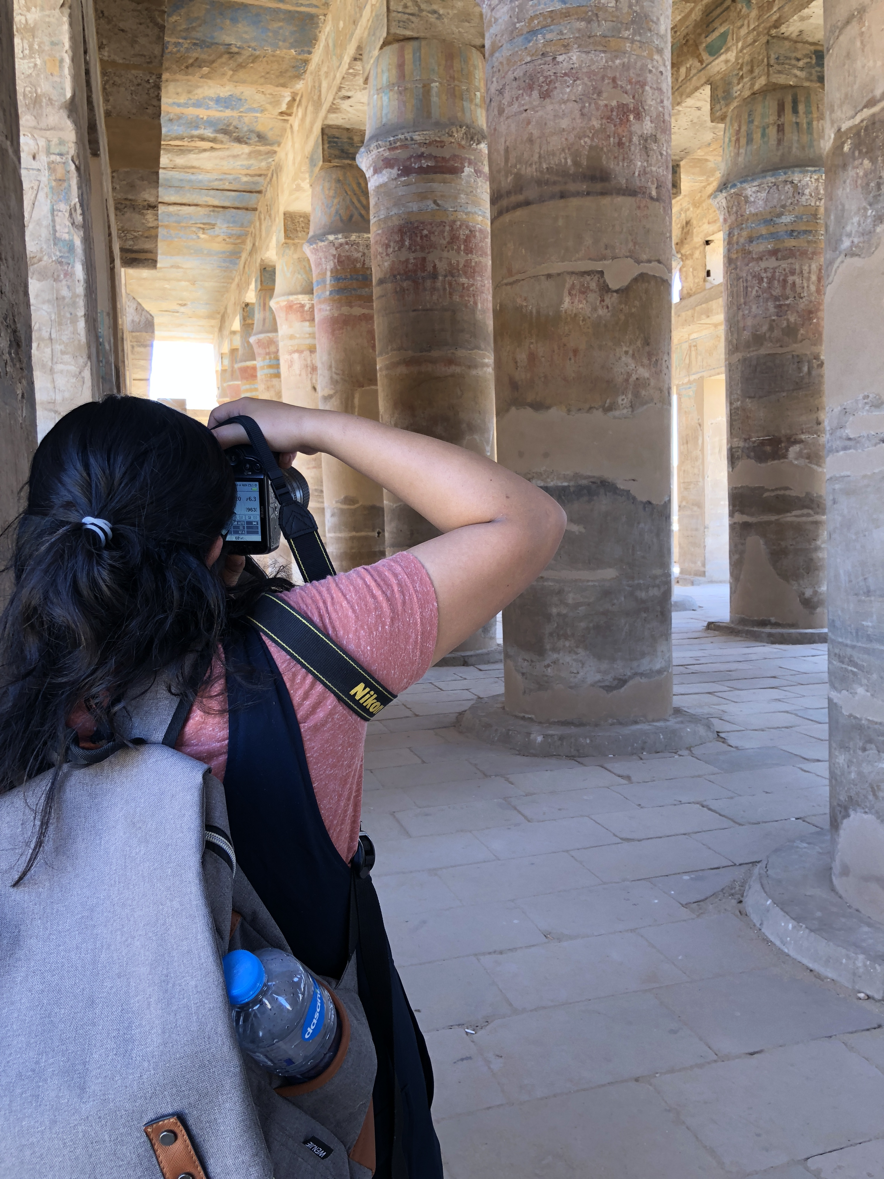 Me Taking Photos, Karnak Temple, Luxor, Egypt