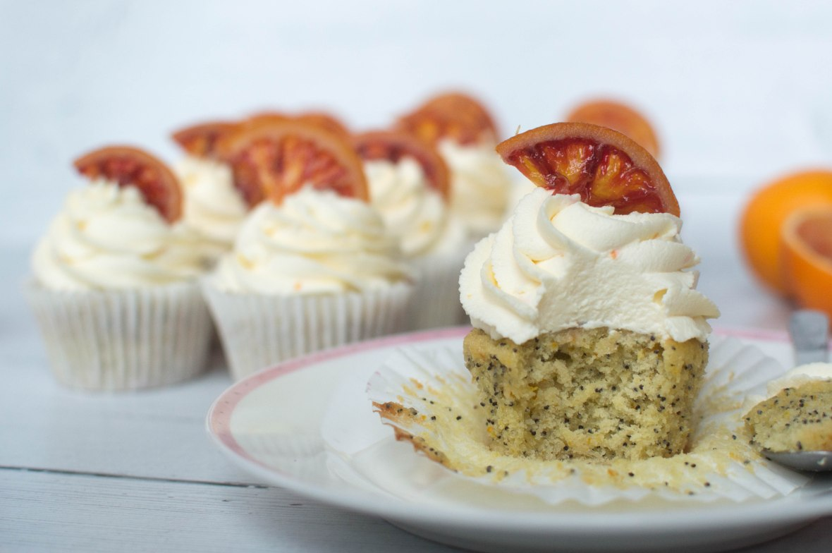 Orange And Poppy Seed Cupcake Recipe - Kay's Kitchen