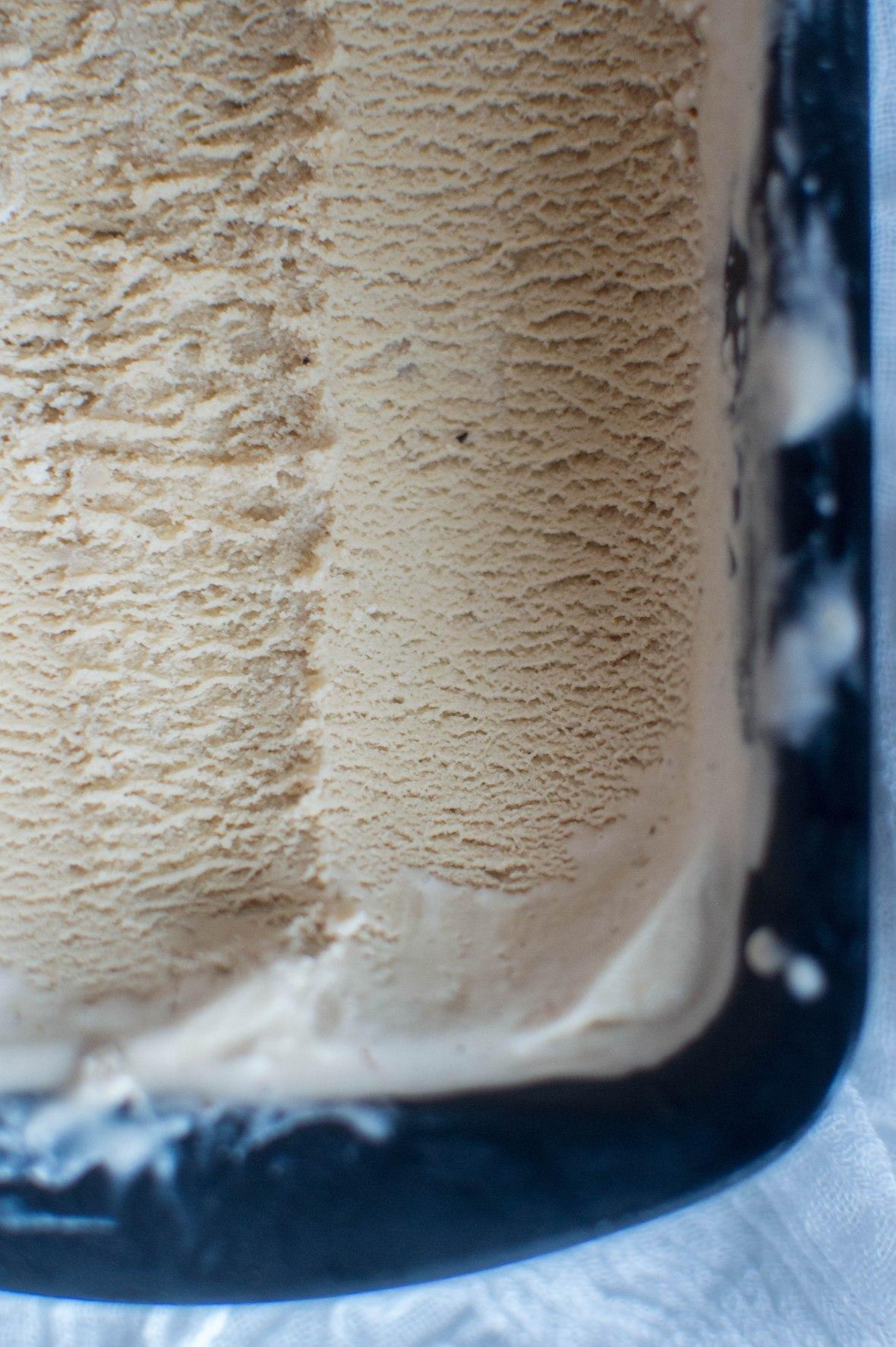 Coffee, Hazelnut & Tonka Bean Ice Cream Close Up - Kay's Kitchen