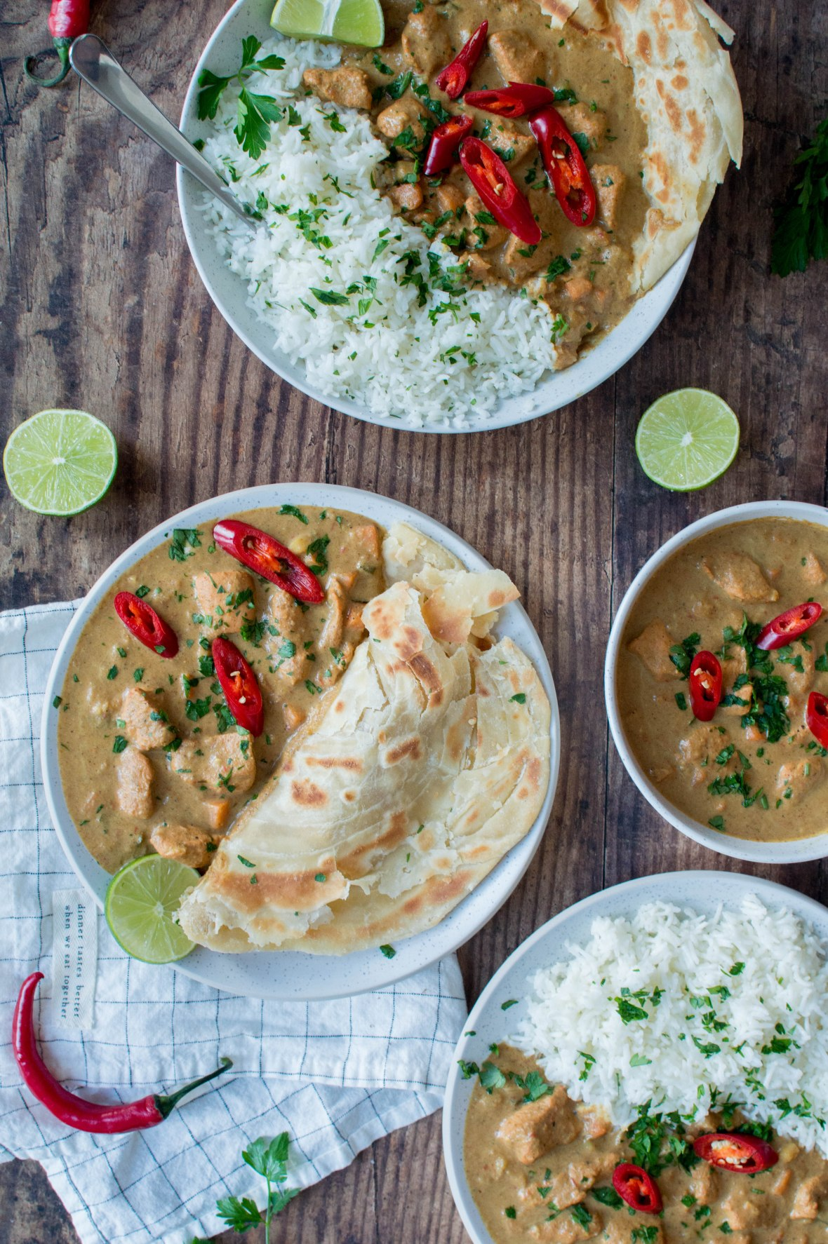 Swahili Chicken Curry With Parathas And Rice - Kay's Kitchen