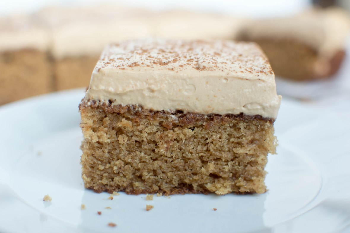 Brown Sugar, Almond And Cinnamon Cake With Coffee Whipped Cream Frosting - Kay's Kitchen