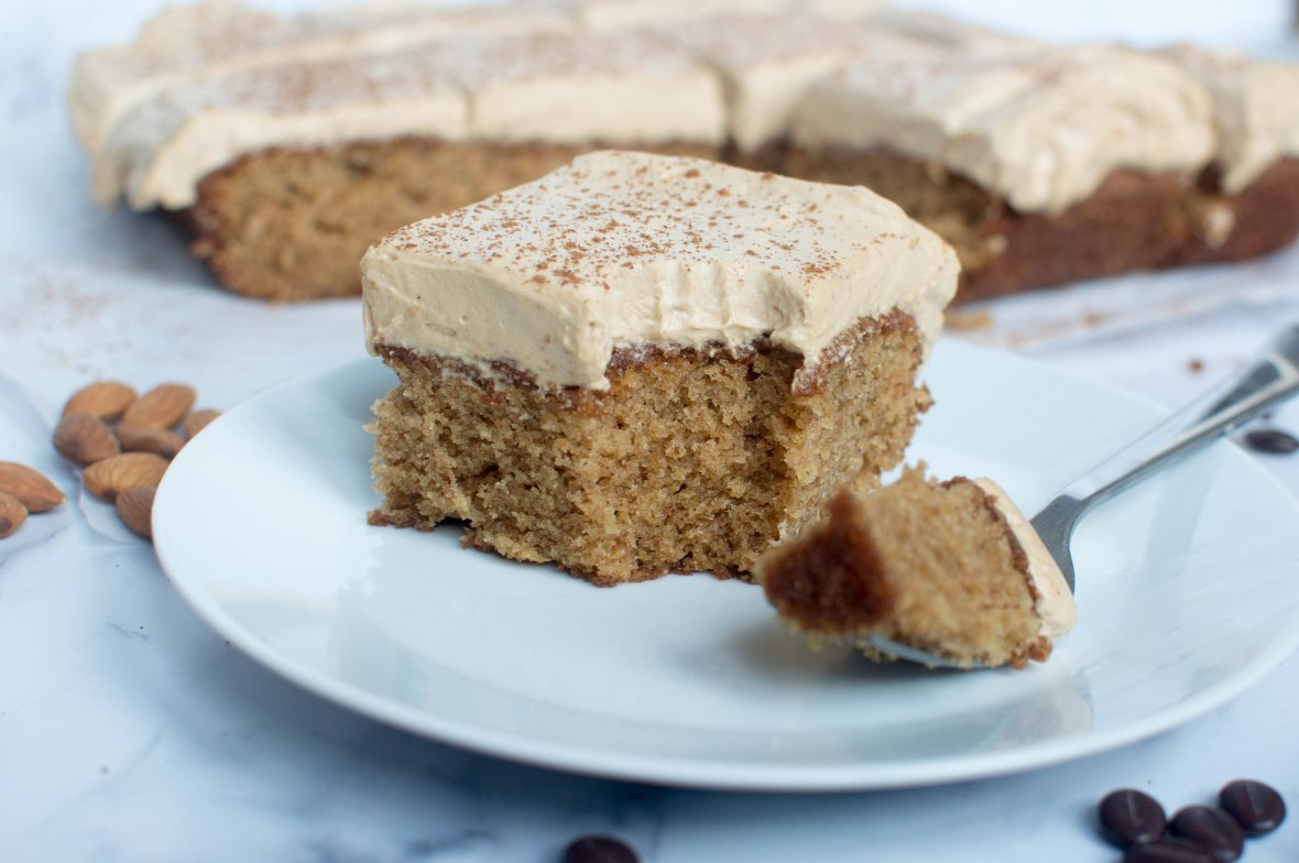 Coffee And Almond Traybake With Cinnamon - Kay's Kitchen