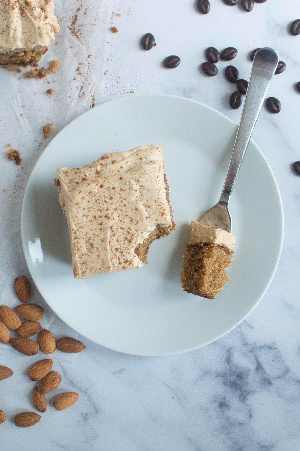 Slice Of Cinnamon, Coffee Almond Cake - Kay's Kitchen