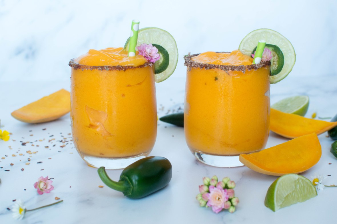 Alphonso Mango Frozen Mocktail With Lime and Jalapeno - Kay's Kitchen