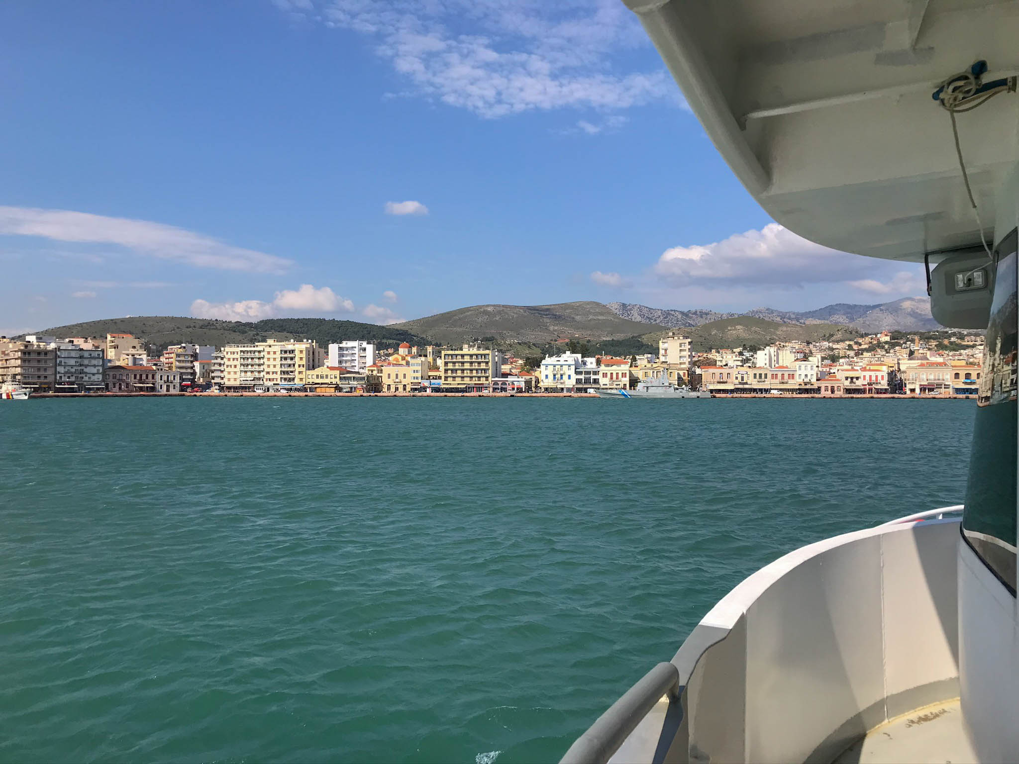 Pulling Up To Chios, Greece